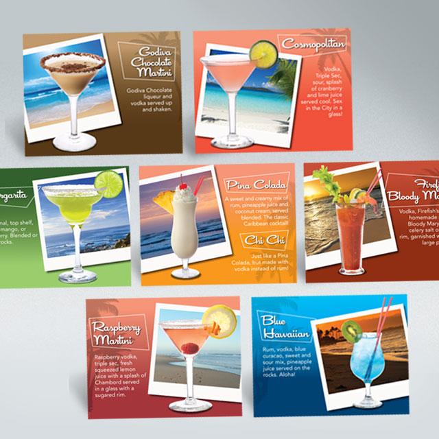 Portfolio categories marketing for Fish on fire menu